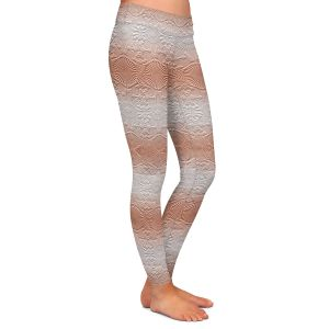 Casual Comfortable Leggings | Susie Kunzelman - North East 2 Salmon | Stripe pattern