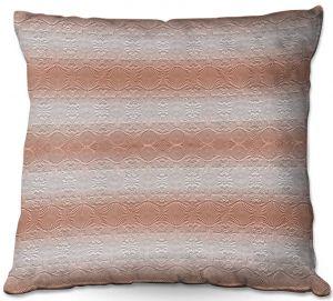 Throw Pillows Decorative Artistic | Susie Kunzelman - North East 2 Salmon | Stripe pattern