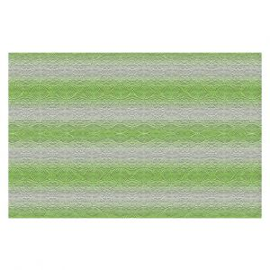 Decorative Floor Covering Mats | Susie Kunzelman - North East 2 Soft Lime | Stripe pattern