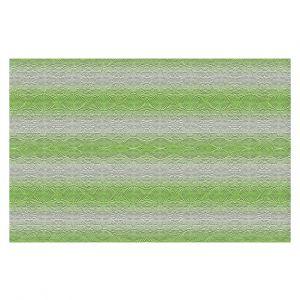 Decorative Floor Covering Mats | Susie Kunzelman - North East 2 Soft Lime | Stripe pattern