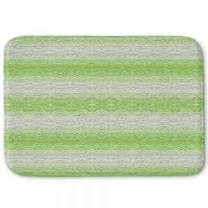 Decorative Bathroom Mats | Susie Kunzelman - North East 2 Soft Lime | Stripe pattern