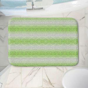 Decorative Bathroom Mats   Susie Kunzelman - North East 2 Soft Lime   Stripe pattern