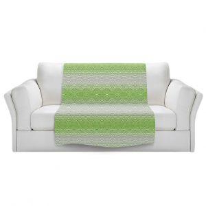Artistic Sherpa Pile Blankets   Susie Kunzelman - North East 2 Soft Lime   Stripe pattern