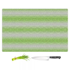 Artistic Kitchen Bar Cutting Boards | Susie Kunzelman - North East 2 Soft Lime | Stripe pattern