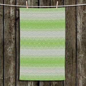 Unique Bathroom Towels | Susie Kunzelman - North East 2 Soft Lime | Stripe pattern