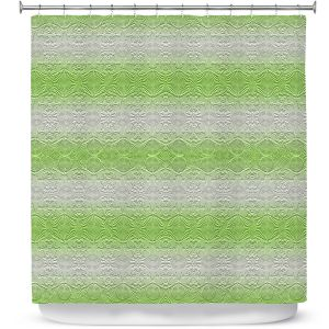 Premium Shower Curtains | Susie Kunzelman - North East 2 Soft Lime | Stripe pattern