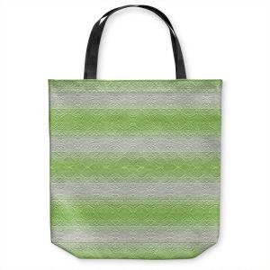 Unique Shoulder Bag Tote Bags | Susie Kunzelman - North East 2 Soft Lime | Stripe pattern