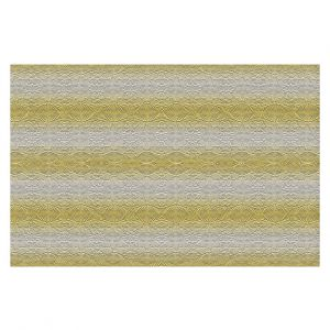 Decorative Floor Covering Mats | Susie Kunzelman - North East 2 Spicy Mustard | Stripe pattern