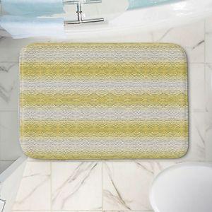 Decorative Bathroom Mats   Susie Kunzelman - North East 2 Spicy Mustard   Stripe pattern
