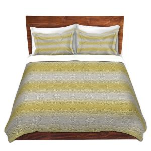Artistic Duvet Covers and Shams Bedding | Susie Kunzelman - North East 2 Spicy Mustard | Stripe pattern