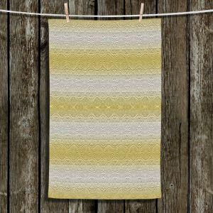 Unique Bathroom Towels | Susie Kunzelman - North East 2 Spicy Mustard | Stripe pattern
