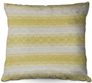 Decorative Outdoor Patio Pillow Cushion | Susie Kunzelman - North East 2 Spicy Mustard | Stripe pattern