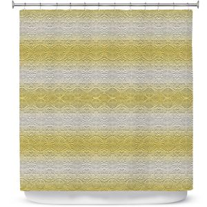 Premium Shower Curtains | Susie Kunzelman - North East 2 Spicy Mustard | Stripe pattern