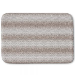 Decorative Bathroom Mats | Susie Kunzelman - North East 2 Tan | Stripe pattern