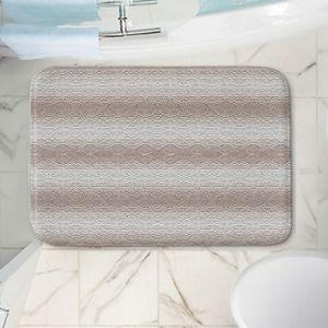 Decorative Bathroom Mats   Susie Kunzelman - North East 2 Tan   Stripe pattern