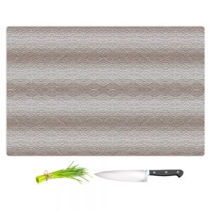 Artistic Kitchen Bar Cutting Boards | Susie Kunzelman - North East 2 Tan | Stripe pattern