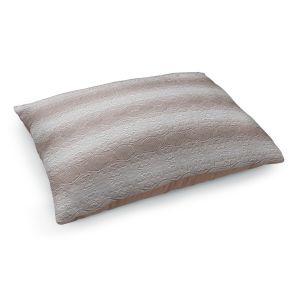 Decorative Dog Pet Beds | Susie Kunzelman - North East 2 Tan | Stripe pattern