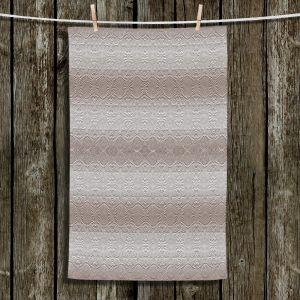Unique Hanging Tea Towels | Susie Kunzelman - North East 2 Tan | Stripe pattern