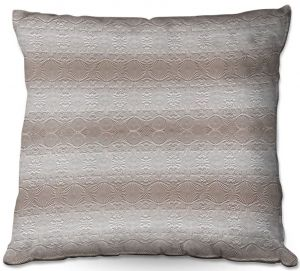 Decorative Outdoor Patio Pillow Cushion | Susie Kunzelman - North East 2 Tan | Stripe pattern