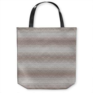 Unique Shoulder Bag Tote Bags | Susie Kunzelman - North East 2 Tan | Stripe pattern
