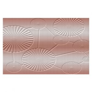 Decorative Floor Covering Mats | Susie Kunzelman - North East 3 Salmon | Stripe pattern