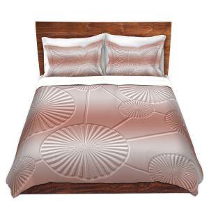 Artistic Duvet Covers and Shams Bedding | Susie Kunzelman - North East 3 Salmon | Stripe pattern