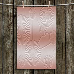 Unique Hanging Tea Towels | Susie Kunzelman - North East 3 Salmon | Stripe pattern