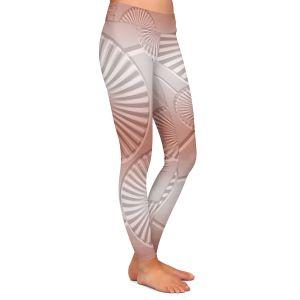 Casual Comfortable Leggings | Susie Kunzelman - North East 3 Salmon | Stripe pattern