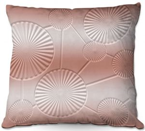Decorative Outdoor Patio Pillow Cushion | Susie Kunzelman - North East 3 Salmon | Stripe pattern