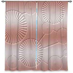 Decorative Window Treatments | Susie Kunzelman - North East 3 Salmon | Stripe pattern