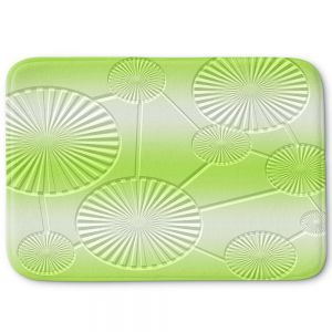 Decorative Bathroom Mats | Susie Kunzelman - North East 3 Soft Lime | Stripe pattern