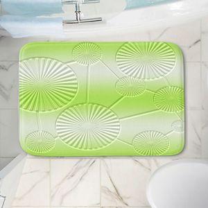 Decorative Bathroom Mats | Susie Kunzelman - North East 3 Soft Lime | Stripe pattern