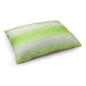 Decorative Dog Pet Beds | Susie Kunzelman - North East 3 Soft Lime | Stripe pattern