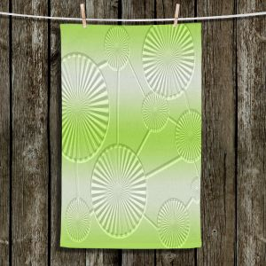 Unique Hanging Tea Towels | Susie Kunzelman - North East 3 Soft Lime | Stripe pattern