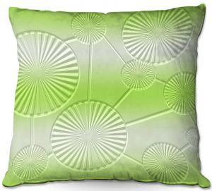 Decorative Outdoor Patio Pillow Cushion | Susie Kunzelman - North East 3 Soft Lime | Stripe pattern