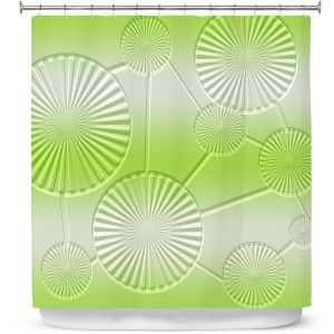 Premium Shower Curtains | Susie Kunzelman - North East 3 Soft Lime | Stripe pattern