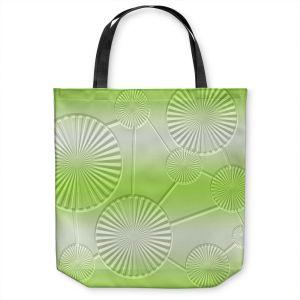 Unique Shoulder Bag Tote Bags | Susie Kunzelman - North East 3 Soft Lime | Stripe pattern