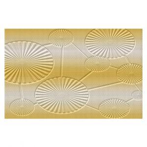 Decorative Floor Covering Mats | Susie Kunzelman - North East 3 Spicy Mustard | Stripe pattern
