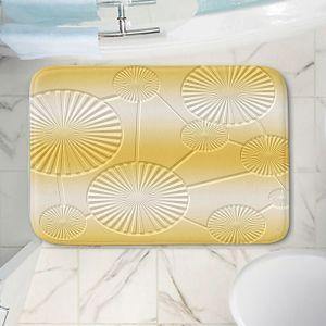 Decorative Bathroom Mats | Susie Kunzelman - North East 3 Spicy Mustard | Stripe pattern