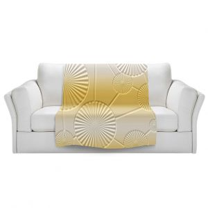 Artistic Sherpa Pile Blankets | Susie Kunzelman - North East 3 Spicy Mustard | Stripe pattern