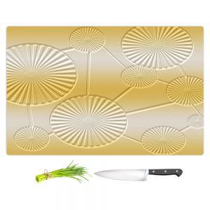 Artistic Kitchen Bar Cutting Boards | Susie Kunzelman - North East 3 Spicy Mustard | Stripe pattern