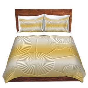 Artistic Duvet Covers and Shams Bedding | Susie Kunzelman - North East 3 Spicy Mustard | Stripe pattern