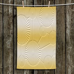 Unique Bathroom Towels | Susie Kunzelman - North East 3 Spicy Mustard | Stripe pattern