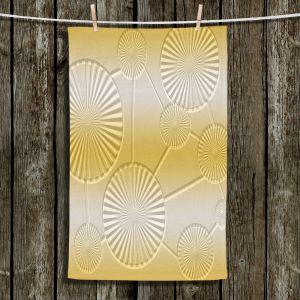 Unique Bathroom Towels   Susie Kunzelman - North East 3 Spicy Mustard   Stripe pattern