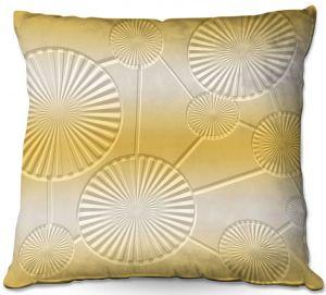 Throw Pillows Decorative Artistic | Susie Kunzelman - North East 3 Spicy Mustard | Stripe pattern