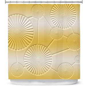 Premium Shower Curtains | Susie Kunzelman - North East 3 Spicy Mustard | Stripe pattern