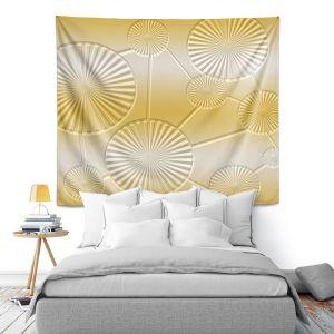 Artistic Wall Tapestry   Susie Kunzelman - North East 3 Spicy Mustard   Stripe pattern