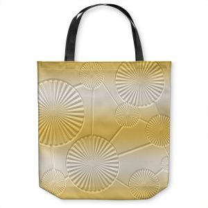 Unique Shoulder Bag Tote Bags | Susie Kunzelman - North East 3 Spicy Mustard | Stripe pattern