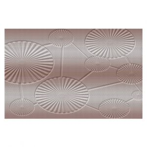 Decorative Floor Covering Mats | Susie Kunzelman - North East 3 Tan | Stripe pattern