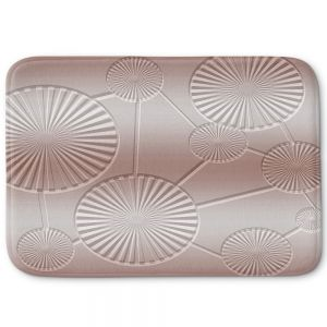 Decorative Bathroom Mats | Susie Kunzelman - North East 3 Tan | Stripe pattern
